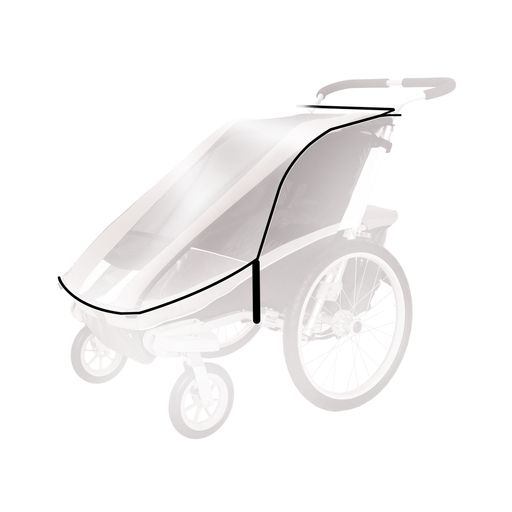 Chariot rain cover for THULE Cougar/ CX child bike trailer